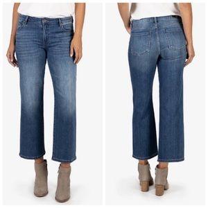 NWT-KFTK High Rise Wide Leg Charlotte Crop Jeans